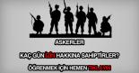 Askerlerin kaç gün izni var?