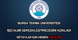 Bursa Teknik Üniversitesi işçi alımı