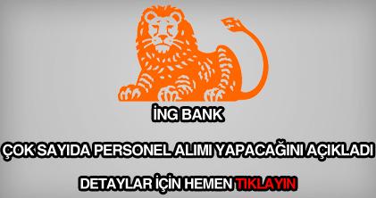 İNG Bank personel alımı