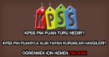KPSS P94 puan türü nedir, ne demektir?