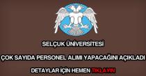 Selçuk Üniversitesi personel alımı