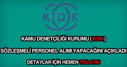 KDK sözleşmeli personel alımı