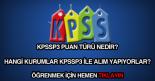 KPSSP3 puanı nedir, ne demektir?