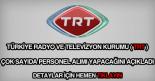 TRT personel alımı