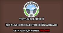 Tortum Belediyesi işçi alımı