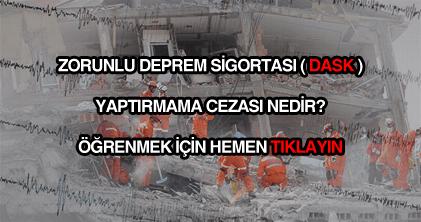 Zorunlu deprem sigortası yaptırmama cezası