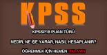 KPSSP18 puan türü nedir?