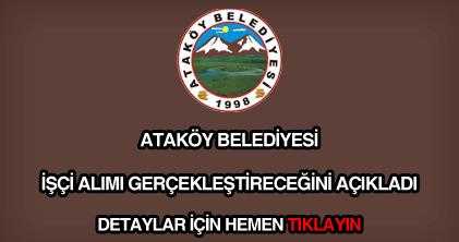 Ataköy Belediyesi işçi alımı