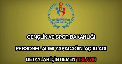 Gençlik ve Spor Bakanlığı personel alımı