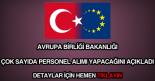 Avrupa Birliği Bakanlığı personel alımı
