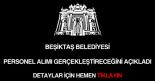 Beşiktaş Belediyesi personel alımı