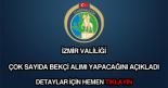 İzmir Valiliği bekçi alımı
