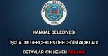 Kangal Belediyesi işçi alımı