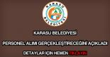 Karasu Belediyesi personel alımı