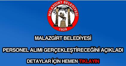 Malazgirt Belediyesi personel alımı