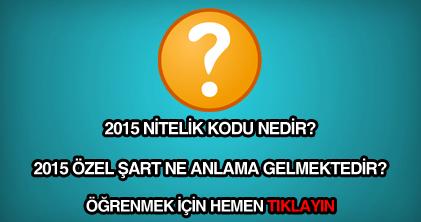 2015 nitelik kodu nedir?