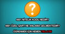 4001 nitelik kodu nedir?