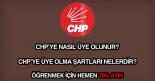 CHP'ye nasıl üye olunur?