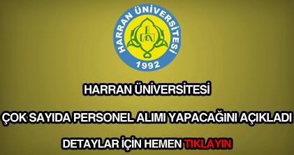Harran Üniversitesi personel alımı