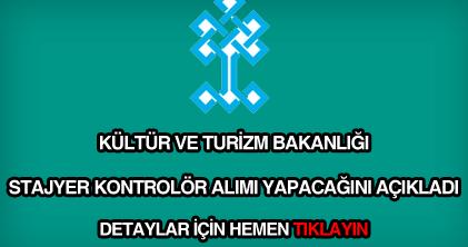 Kültür ve Turizm Bakanlığı kontrolör alımı