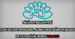 Nilüfer Belediyesi personel alımı