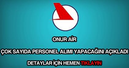 Onur Air personel alımı