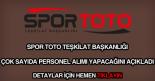 Spor Toto personel alımı