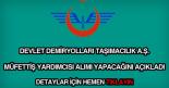 TCDD taşımacılık müfettiş yardımcısı alımı