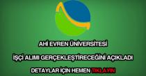 Ahi Evren Üniversitesi işçi alımı