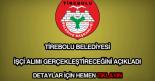 Tirebolu Belediyesi işçi alımı
