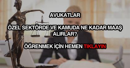 Avukat maaşları