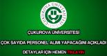 Çukurova Üniversitesi personel alımı