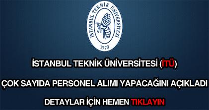 İstanbul Teknik Üniversitesi personel alımı