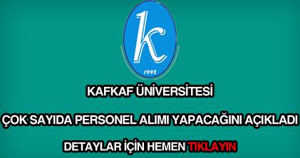 Kafkaf Üniversitesi personel alımı