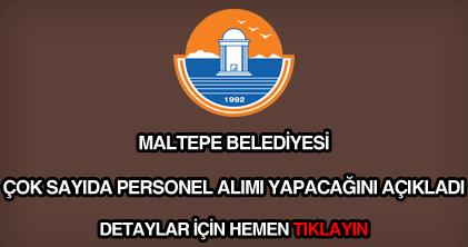 Maltepe Belediyesi personel alımı