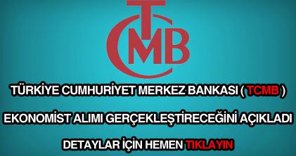 Merkez Bankası ekonomist alımı