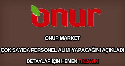 Onur Market personel alımı