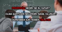 Profesör nedir, nasıl olunur?