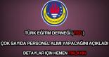 Türk Eğitim Derneği personel alımı