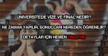 Üniversitede vize final nedir?