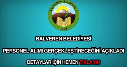 Balveren Belediyesi personel alımı