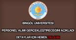 Bingöl Üniversitesi personel alımı