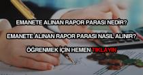 Emanete alınan rapor parası nasıl alınır