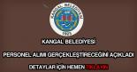 Kangal Belediyesi personel alımı