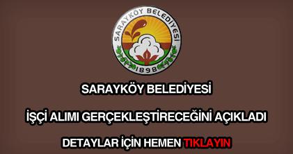 Sarayköy Belediyesi işçi alımı