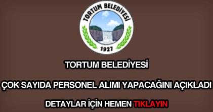 Tortum Belediyesi personel alımı