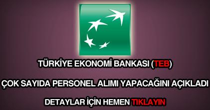 Türkiye Ekonomi Bankası personel alımı