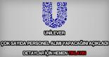 Unilever personel alımı