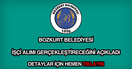 Bozkurt belediyesi işçi alımı