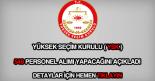YSK 549 personel alımı